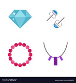 Thumb set of cartoon jewelry accessories vector 12590052